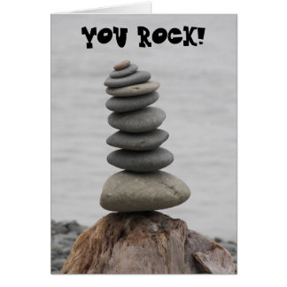 Rock Art Photo Dude Birthday Card