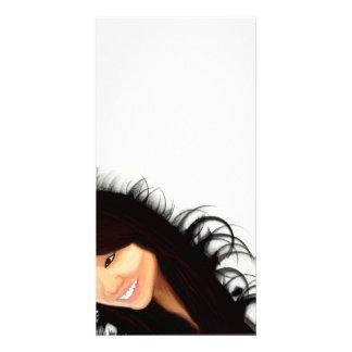 Rock Asian Midori s portrait Photo Card