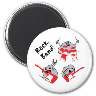 Rock Band 6 Cm Round Magnet