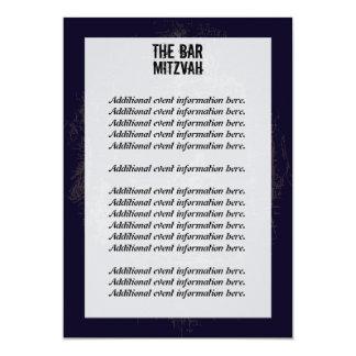 Rock Band Bar Mitzvah Info Card 13 Cm X 18 Cm Invitation Card