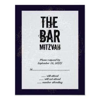 Rock Band Bar Mitzvah Reply Card 11 Cm X 14 Cm Invitation Card