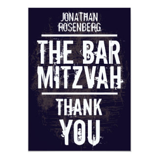 Rock Band Bar Mitzvah Thank You Card - All Type 13 Cm X 18 Cm Invitation Card