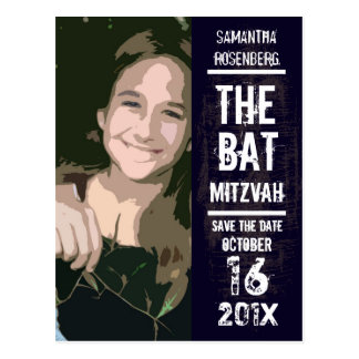 Rock Band Bat Mitzvah Save the Date Post Card