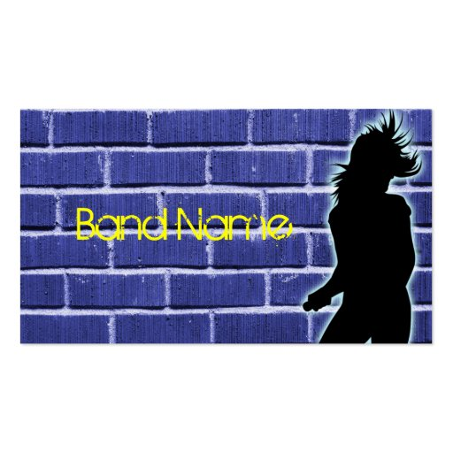 Rock Band Business Cards Brick
