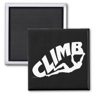Rock Bouldering Climbing Square Magnet