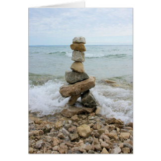 Rock Cairn - Mackinac Island Monument Card