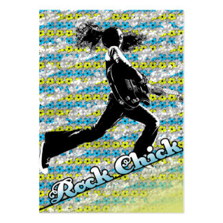 """""""Rock Chick"""" Chubby Card Business Card"""