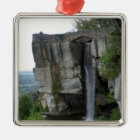 Rock City Waterfall Metal Ornament