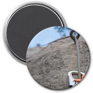 Rock Climber Carabiner Closeup Refrigerator Magnet