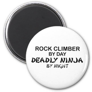 Rock Climber Deadly Ninja by Night 6 Cm Round Magnet