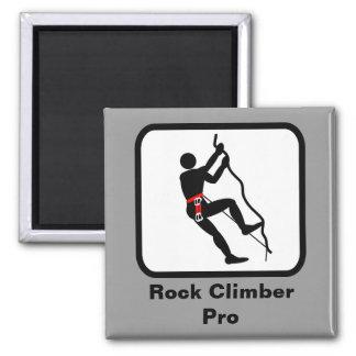 Rock Climber Pro Square Magnet