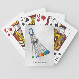 Rock Climbers Rack Of Wires Playing Cards