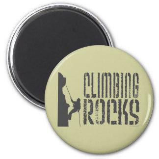 Rock Climbing 6 Cm Round Magnet