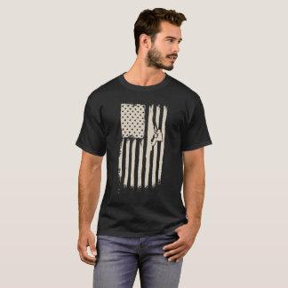 Rock Climbing American Flag T-Shirt