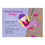 "Rock Climbing Birthday Party Invitations 5"" X 7"" Invitation Card"
