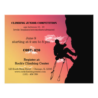 Rock Climbing competition 21.5 Cm X 28 Cm Flyer