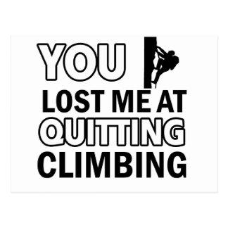 Rock climbing designs postcard