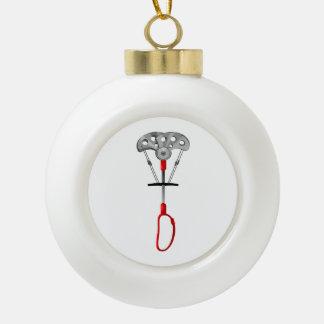 Rock Climbing Gear Ceramic Ball Christmas Ornament