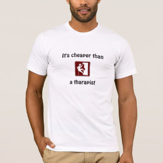 rock-climbing, It's cheaper thana tharapist T-Shirt