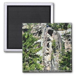 Rock climbing, New Brunswick, Canada rock formatio Magnets