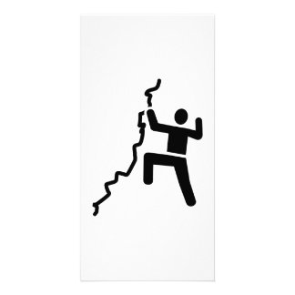 Rock climbing photo card