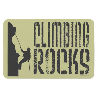 Rock Climbing Rectangular Photo Magnet