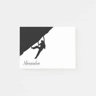 Rock Climbing Silhouette Post-it Notes
