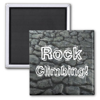 Rock Climbing! Square Magnet