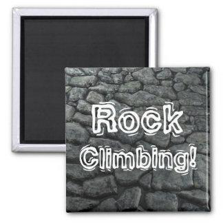 Rock Climbing! Square Magnet