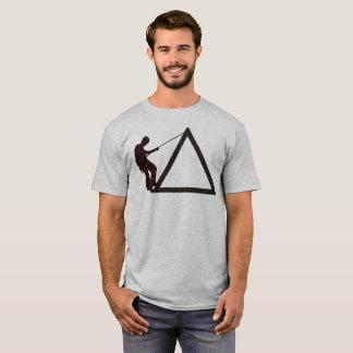 Rock Climbing T-Shirt Climber Rope Triangle Climb