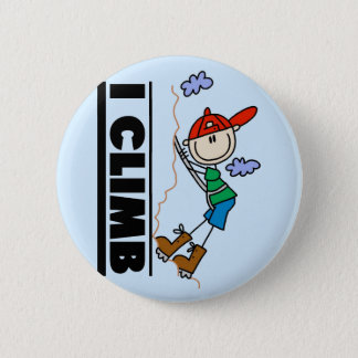 Rock Climbing Tshirts and Gifts 6 Cm Round Badge