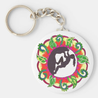 Rock Climbing Zen Girl Key Ring