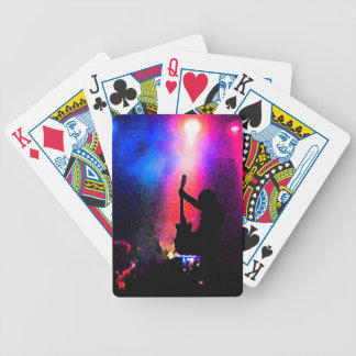 Rock Concert with Guitarist and Stage Lighting Poker Deck