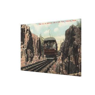 Rock Cut on Mt. Tom Stretched Canvas Print