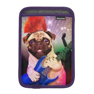 Rock dog - pug party - pug guitar - dog rocker iPad mini sleeve