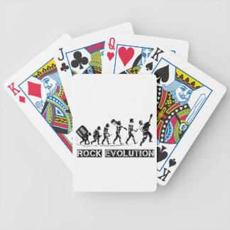 Rock Evolution funny design Bicycle Playing Cards