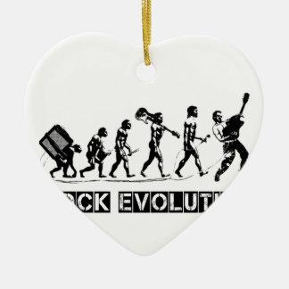 Rock Evolution funny design Ceramic Heart Decoration