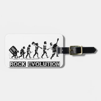 Rock Evolution funny design Luggage Tag