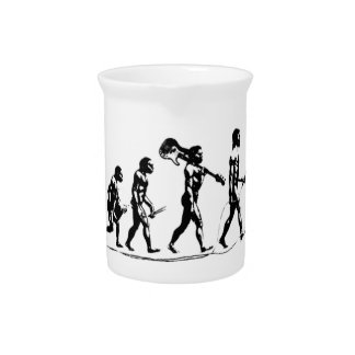 Rock Evolution funny design Pitcher