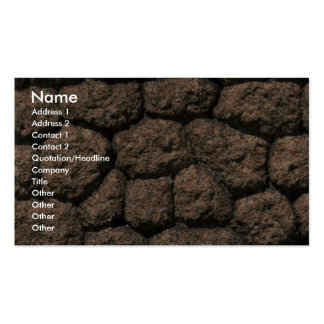 Rock fence close-up business card templates