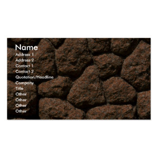 Rock fence close-up business card template