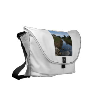 Rock Fence Water House Florida Picture Courier Bags