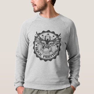 Rock festival drums sweatshirt