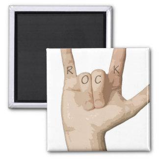 Rock Fingers Square Magnet