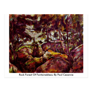 Rock Forest Of Fontainebleau By Paul Cezanne Postcard