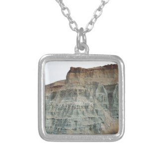 Rock Formation Square Pendant Necklace