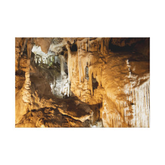 Rock Formations in Nerja Caves Canvas Print
