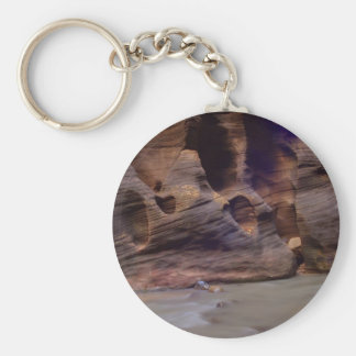 Rock Formations In Zion Narrows Key Ring