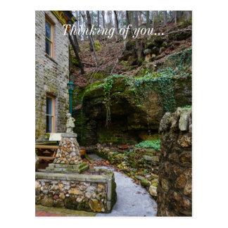 Rock Garden Patio Postcard