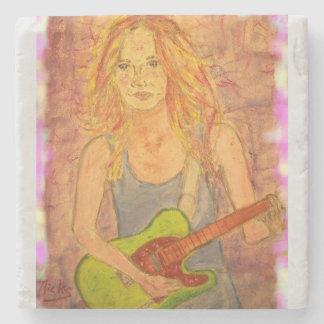Rock Girl Stone Coaster